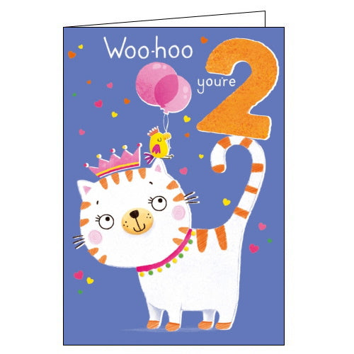 Abacus 2 today happy 2nd birthday card