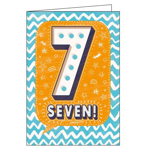 Abacus 7th birthday card