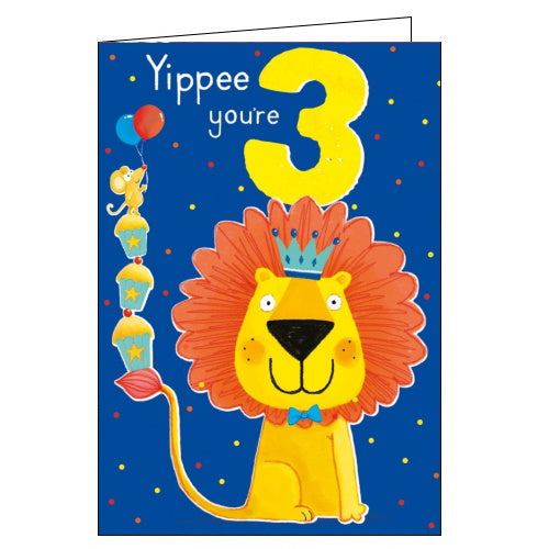 Abacus 3 today happy 3rd birthday card Nickery Nook