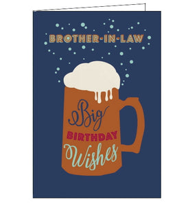 Abacus beer brother in law birthday card