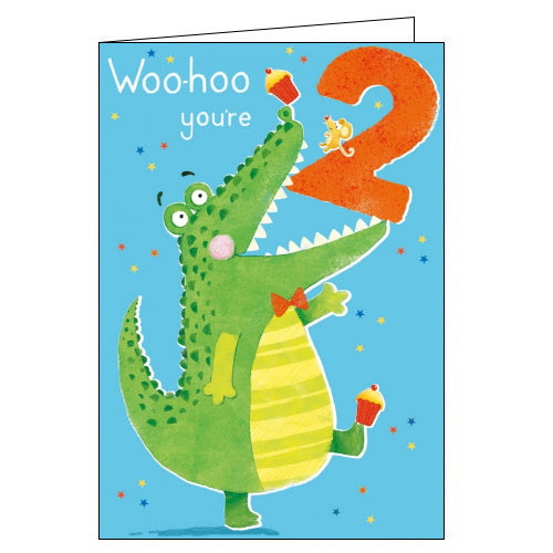 Abacus crocodile 2 today happy 2nd birthday card