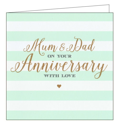 Abacus mum and dad anniversary card