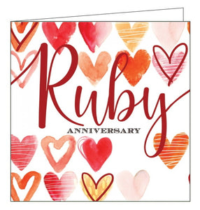 Abacus ruby anniversary card