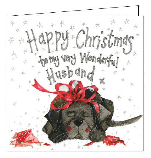 Happy Christmas to My Very Wonderful Husband- Alex Clark Christmas Card