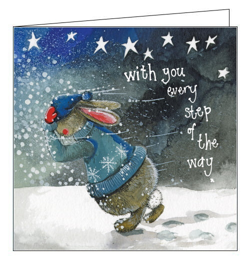 With You Every Step of the Way- Alex Clark Christmas Card