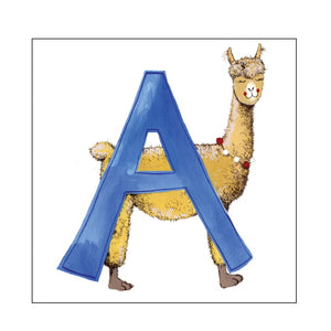 A For Alpaca - Alex Clark Alphabet Tile