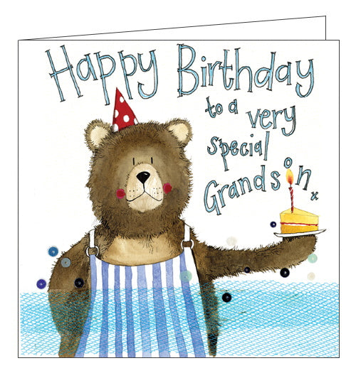 Alex Clark bear grandson birthday card