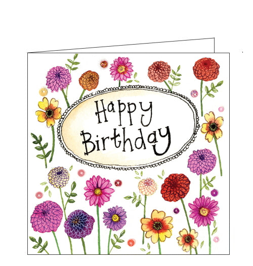 Alex Clark birthday card flowers birthday card
