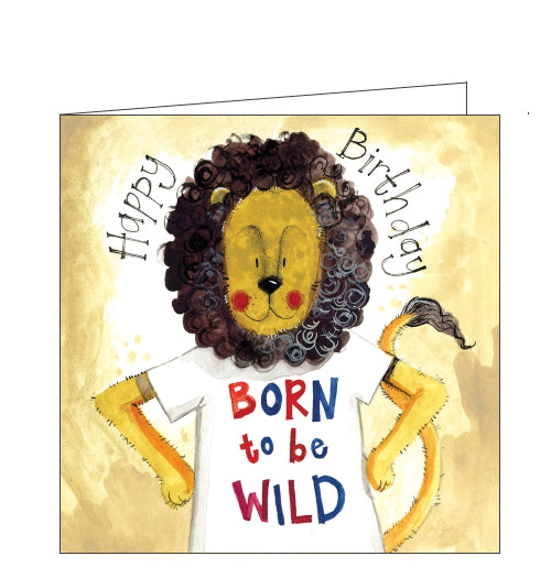 Alex Clark birthday card lion born to be wild birthday card