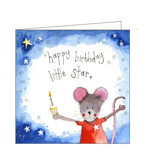 Alex Clark birthday card little star