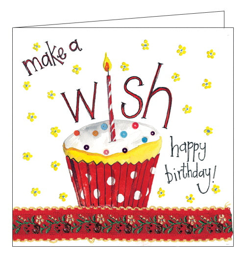 Alex Clark birthday card make a wish