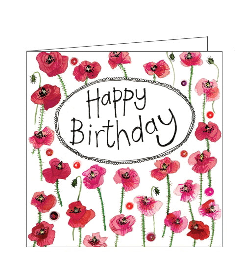 Alex Clark birthday card poppies birthday card