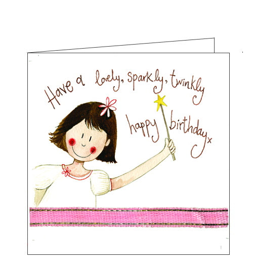 Alex Clark birthday cards fairy twinkly girls birthday card