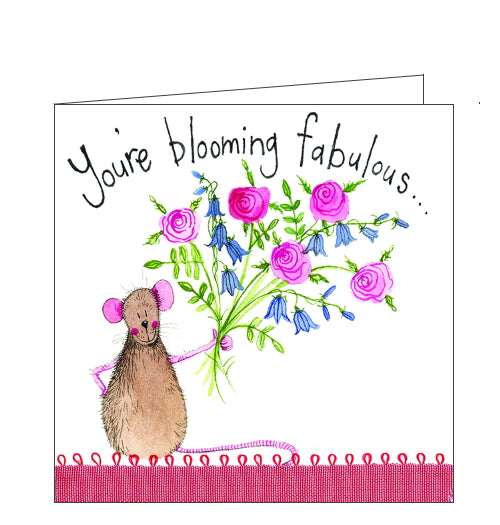 Alex Clark card you're blooming fabulous card