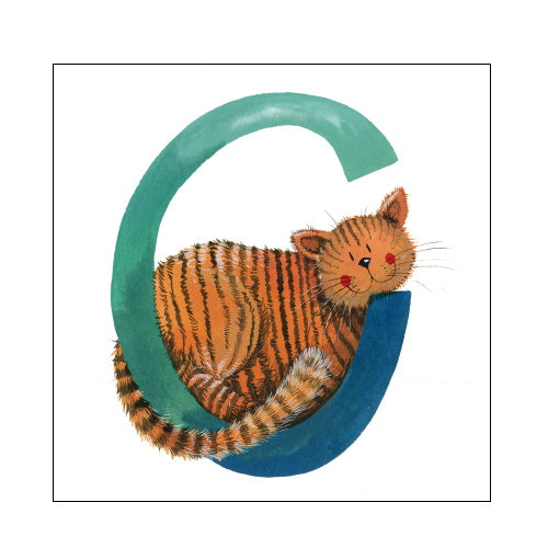Alex Clark c cat alphabet tile