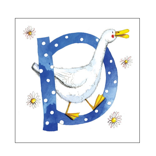 Alex Clark d duck alphabet tile