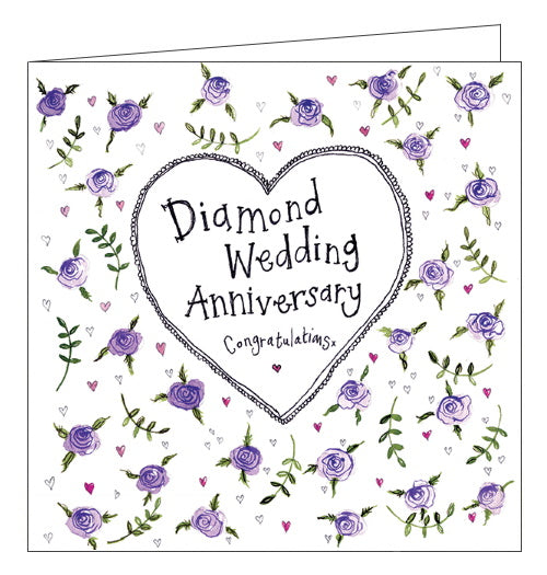 Alex Clark diamond wedding anniversary card