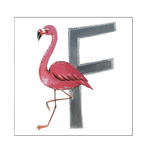 Alex Clark f flamingo alphabet tile