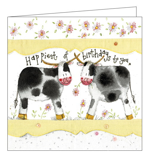 Alex Clark happy cows birthday card