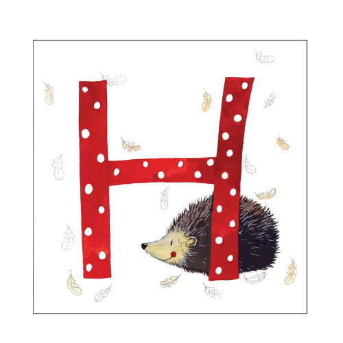Alex Clark h hedgehog alphabet tile
