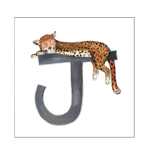 Alex Clark j jaguar alphabet tile