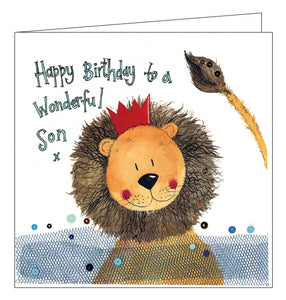 Alex Clark lion son birthday card