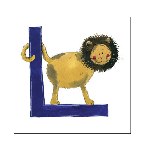 Alex Clark l lion alphabet tile