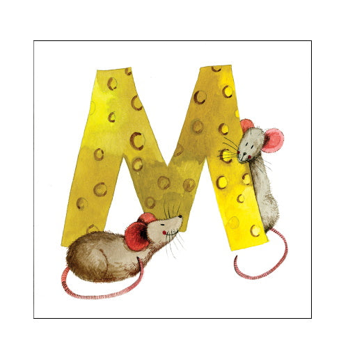 Alex Clark m mouse alphabet tile
