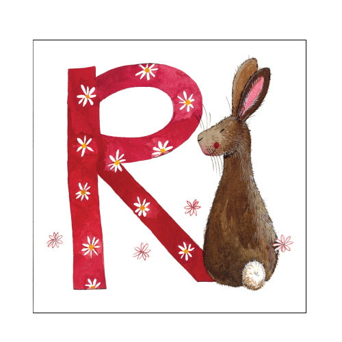 Alex Clark r rabbit alphabet tile