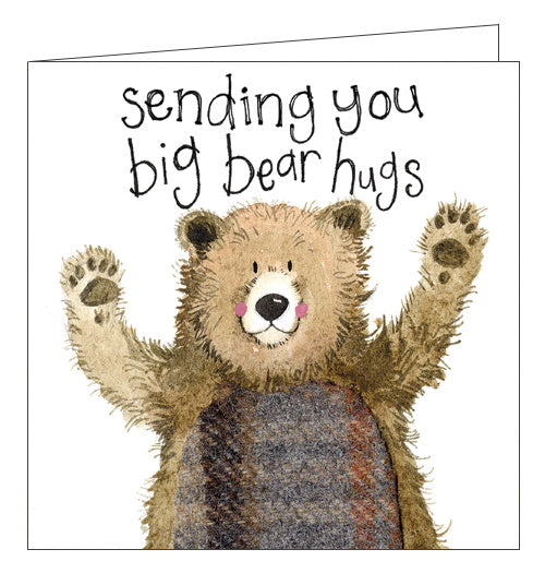 Alex Clark sending big bear hugs greetings card