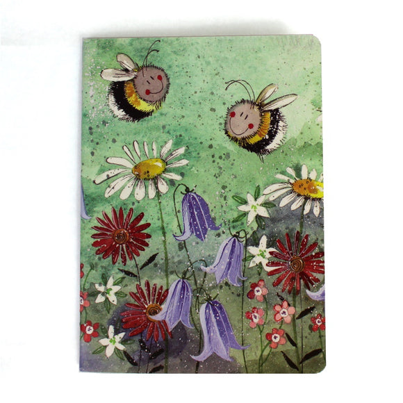 Alex Clark soft backed notebook bee meadow