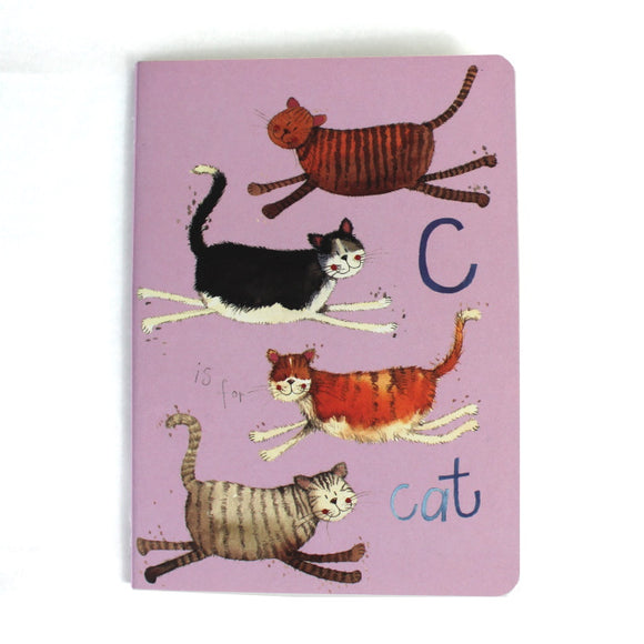Alex Clark soft backed notebook c is for cats 1