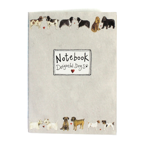 Alex Clark soft backed notebook delightful dogs 1