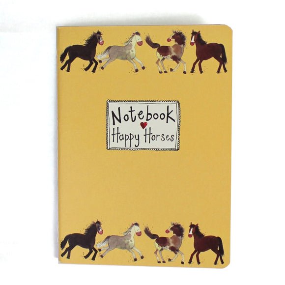 Alex Clark soft backed notebook happy horses