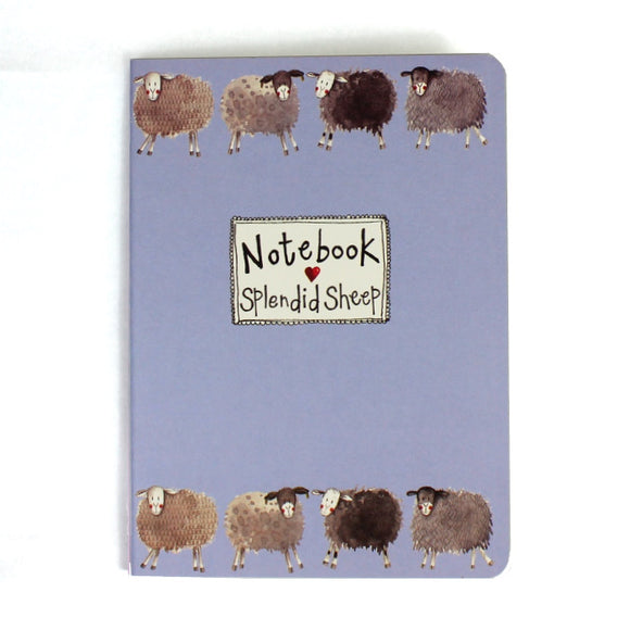 Alex Clark soft backed notebook splendid sheep