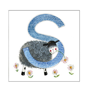 Alex Clark s sheep alphabet tile