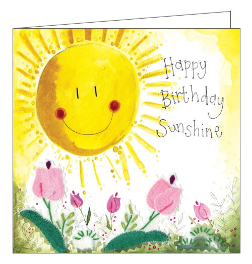 Sunshine and Flowers Alex Clark birthday card