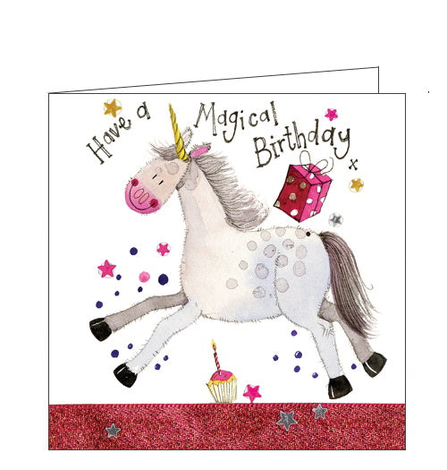 Alex Clark unicorn magical birthday card