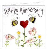 Alex Clark Happy Anniversary bees card Nickery Nook