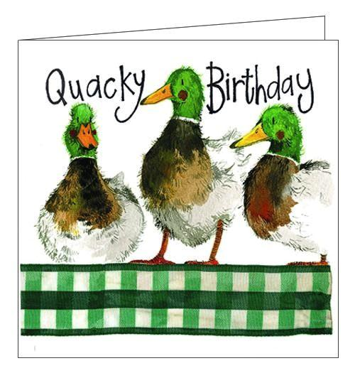 Alex Clark Happy Birthday Quacky Birthday ducks Birthday card Nickery Nook