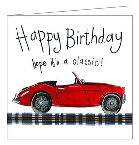 Alex Clark Happy Birthday classic car red convertable card for him Nickery Nook