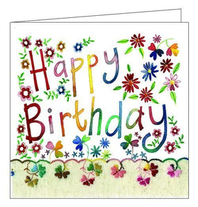 Alex Clark Happy Birthday floral flowers Birthday card for her Nickery Nook