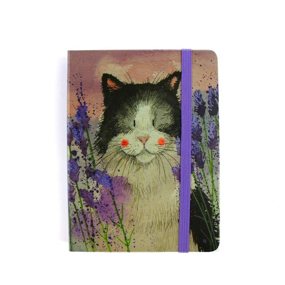 Alex Clark a6 little chunky notebook cat and lavender 2