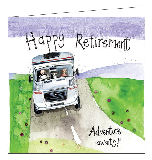 Alex Clark adventure awaits motorhome rv campervan retirement card Nickery Nook new