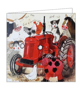 Alex Clark big red tractor blank card farming countryside Nickery Nook
