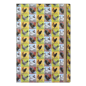 Alex Clark chickens a5 lined notebook Nickery Nook