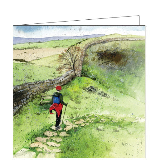 Alex Clark country hike countryside blank card Nickery Nook