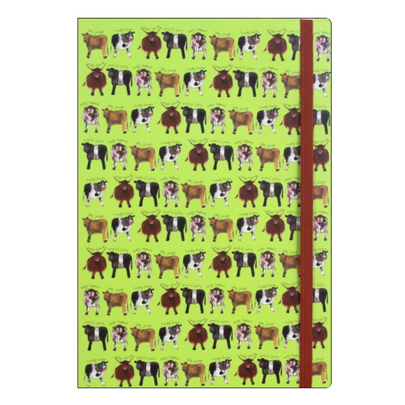 Alex Clark cow collection a5 lined notebook Nickery Nook a