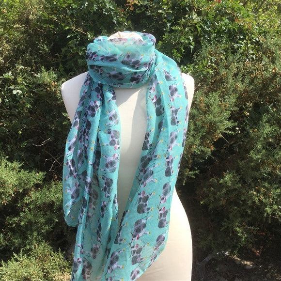 Alex Clark cows print scarf scarves Nickery Nook