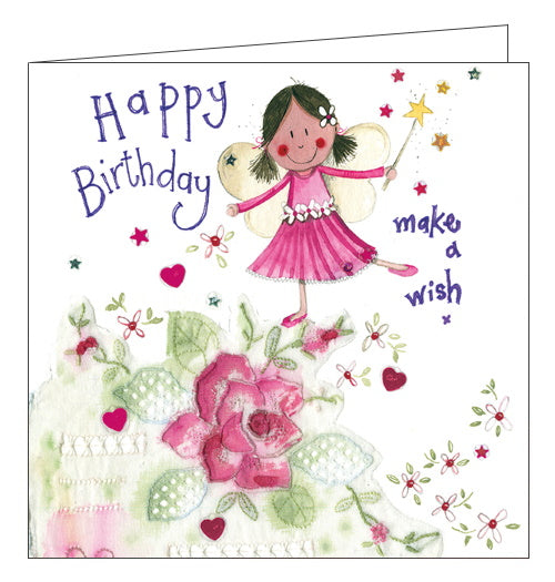 Alex Clark fairies make a wish Birthday card Nickery Nook
